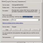 sql server agent properties