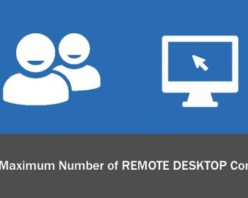 configure maximum number of remote desktop connections