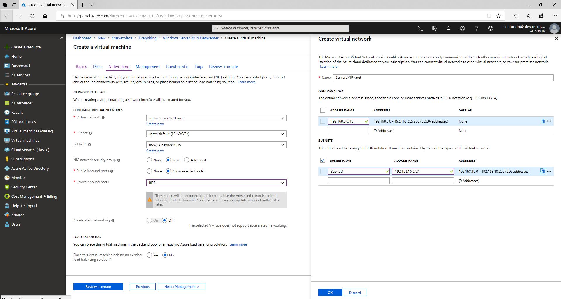 Windows Server 2019 In Azure - Create Virtual Machine