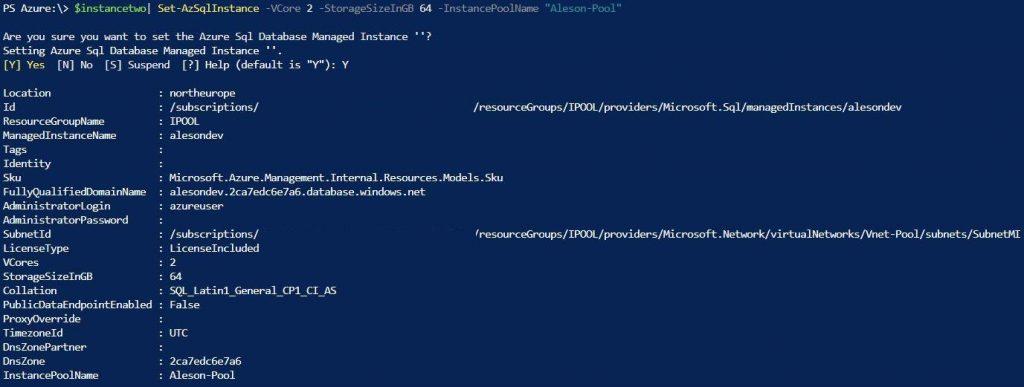 Azure SQL Instance