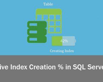 Get Live Index Creation % in SQL Server