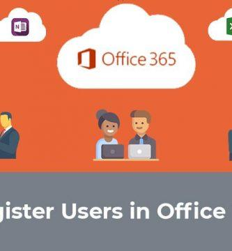 register users in office 365