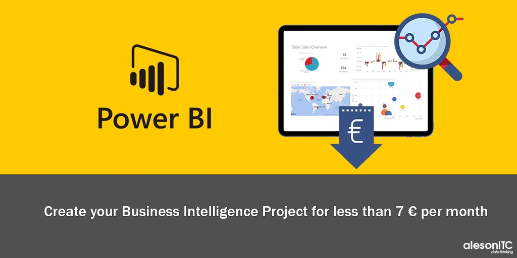 Create your BI project for less than 7 euros per month