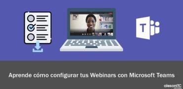 Configura los Webinars de Microsoft Teams