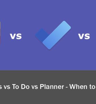 Microsoft lists vs planner vs to do - cuándo utilizarlas